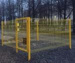 Ограждение с калиткой из сварной 3д сетки для газораспределителя. СНК группа компаний НордМашСервис